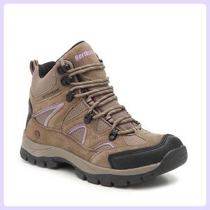 NORTHSIDE Snohomish Tan/Purple Suede Hiking Boots